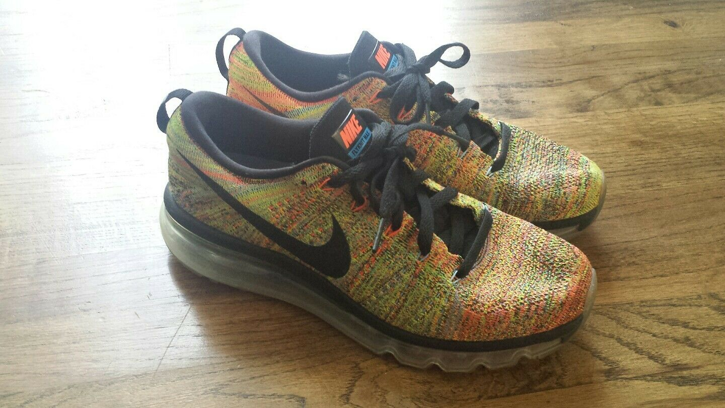 Nike Flyknit Max Women's Women's Women's Multi-color Black Chalk bluee-Hyp orange 1dfcd2