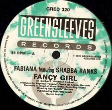 "FABIANA FEAT SHABBA RANKS fancy girl GRED 320 uk greensleeves 1991 12"" CS EX/EX"
