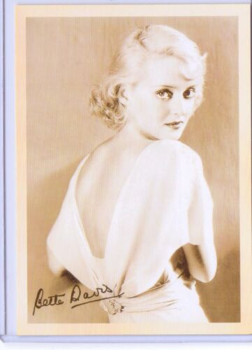VINTAGE REPRO YOUNG BETTE DAVIS CELEBRITY REPRODUCTION POSTCARD