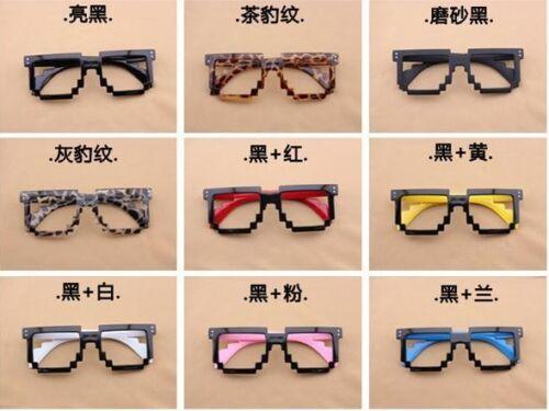 Retro 8-bit old school nouveauté geek nerd gamer mosaic 2-tone pixel lunettes frame