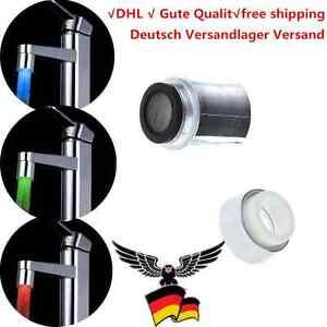 3-Farben-Farbwechsel-LED-Licht-Wasserhahn-Wasser-Armatur-Aufsatz-NO-Batterie-UG