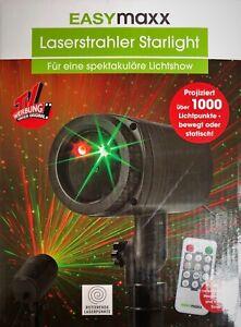 230 qm 3 Farbprogramme Fernbed Timer Erdspieß EASYmaxx Laserstrahler bis ca