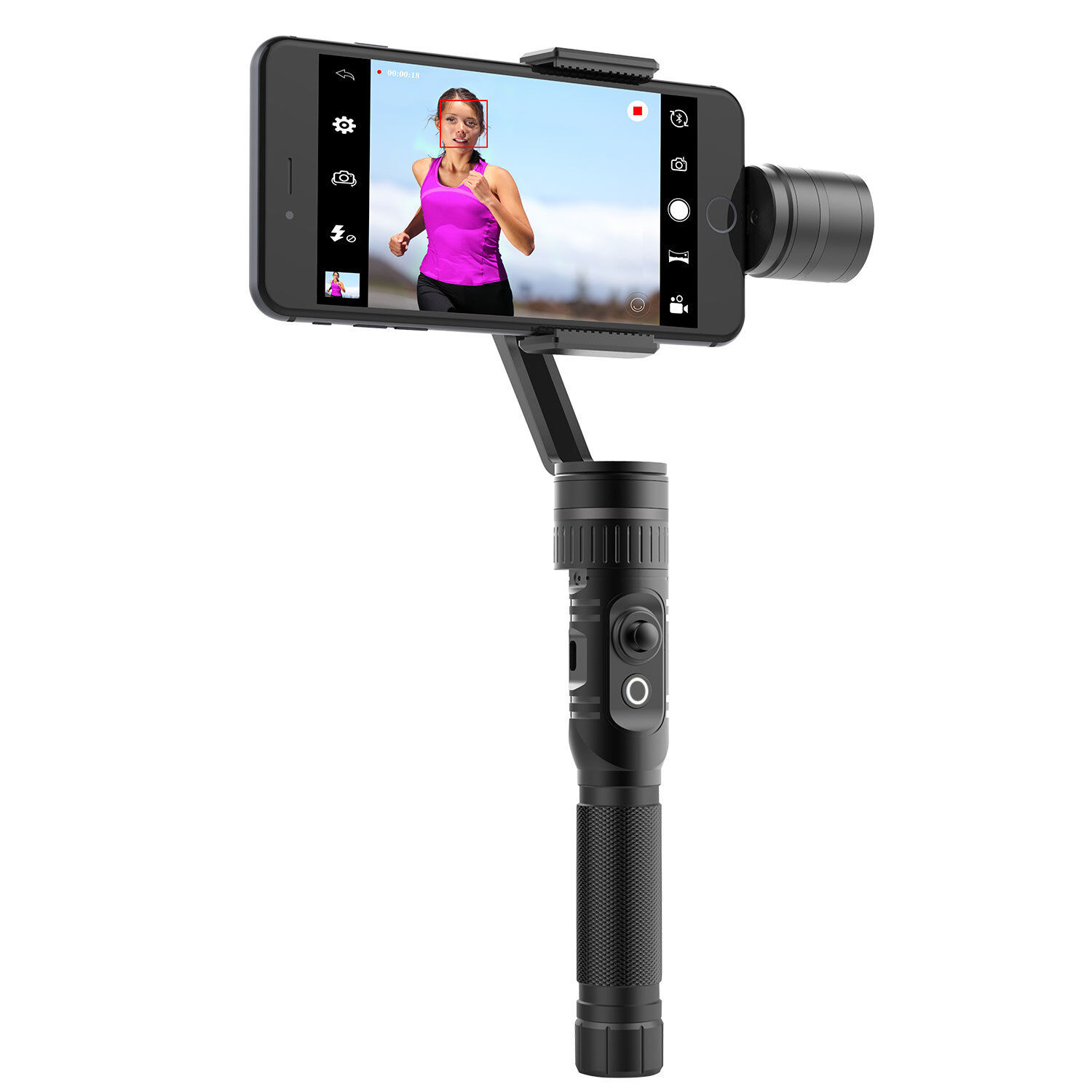 Stabilizer Gimbal for Smartphone Vlog,Portable Bluetooth 3-Axis Handheld Stabilizer with QI Wireless Charging Function,High-performance Algorithm for Anti-interference and Photography Stabilization Effect