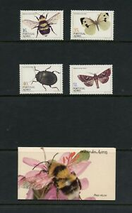 Portugal-Azores-1984-345-8-348B-insects-set-amp-booklet-MNH-L857