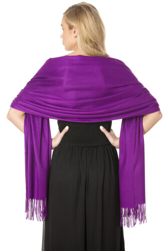Central Chic Purple Cashmere Scarf Pashmina Shawl Wrap UK Seller /& Fast Delivery