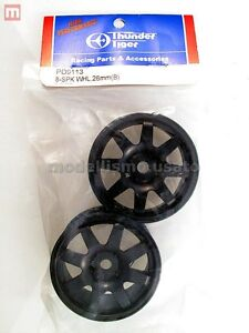 Thunder-Tiger-PD9113-Cercles-26mm-Wheels-8-Rayon-Noir-modelisme