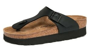 PAPILLIO-Birkenstock-Sandals-GIZEH-black-Platform-Birkoflor-regular-NEW