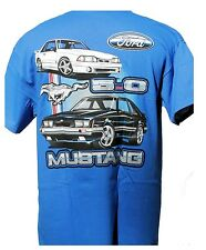 MUSTANG FOX BODY 2 CAR 2 SIDED SHIRT SOLD EXCLUSIVELY HERE