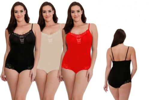 Ladies Smooth Line Light Body control Suit With Lace Trim Control Shapewear
