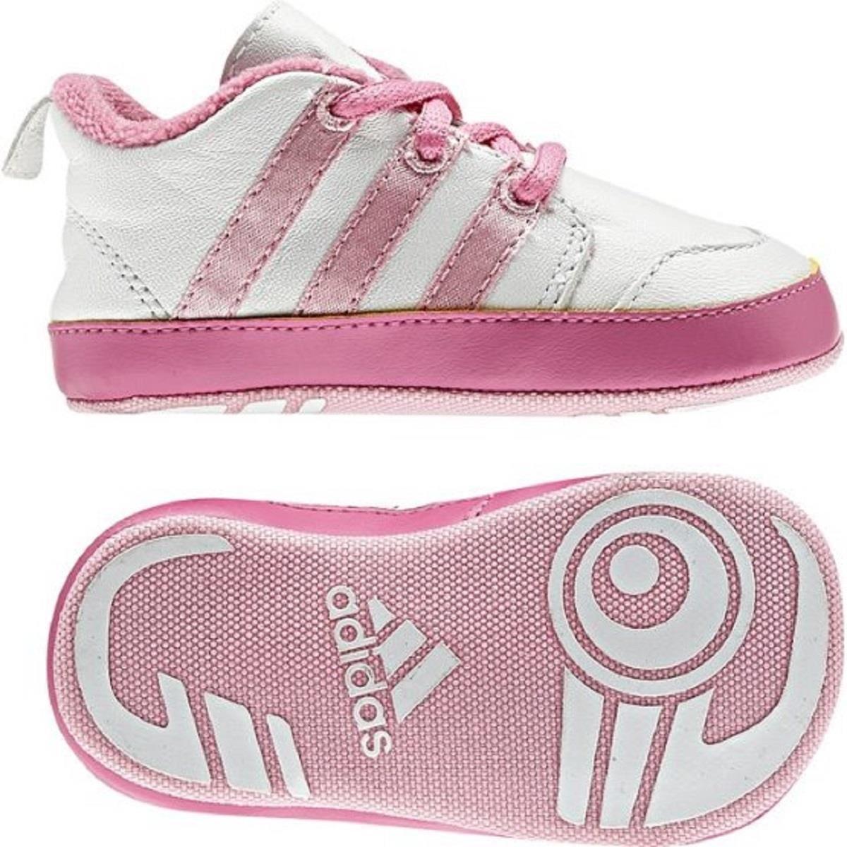 Enfants ADIDAS Liladi 3 Crib Baskets blanc/rose (G46306)