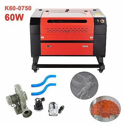 60w CO2 Laser Engraving & Cutting Professional Engraver Machine