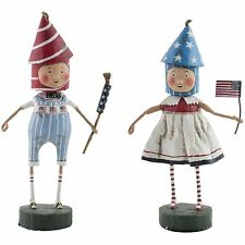 Lori Mitchell July 4th Lil Firecrackers Figures Folk Art Figurines Set Figures