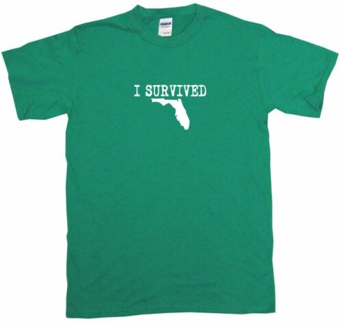 6XL I Survived State Of Florida Logo Mens Tee Shirt Pick Size /& Color Small