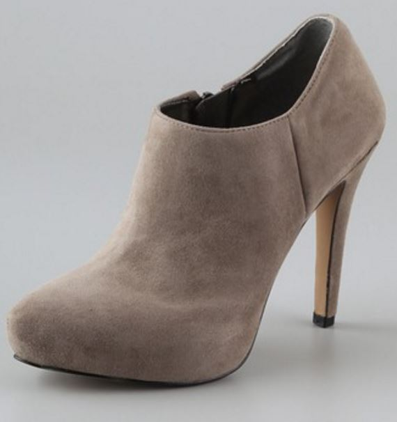 economico e di alta qualità Sam Eldelman RIA Putty Suede Dimensione Zip avvioie Heel Heel Heel Shoe, 9M - MSRP  140  outlet in vendita
