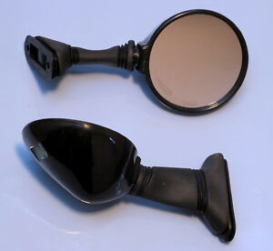 DUCATI-750F1-851-EARLY-TYPE-MODELS-PAIR-BLACK-GENUINE-ITALIAN-FACTORY-MIRRORS