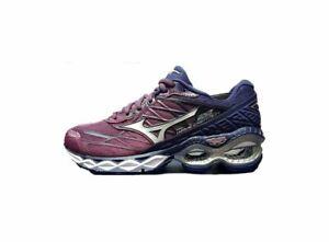 Mizuno-Wave-Creation-20-Women-039-s-Running-Shoes-Rd-Wine-Silver-Blue-J1GD190106-19U