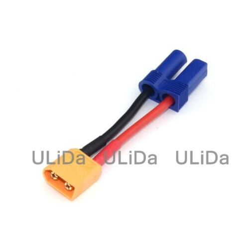 XT60 Male To Female EC5 Connector Adapter //w Wire RC Helicopter  Lithium Battery