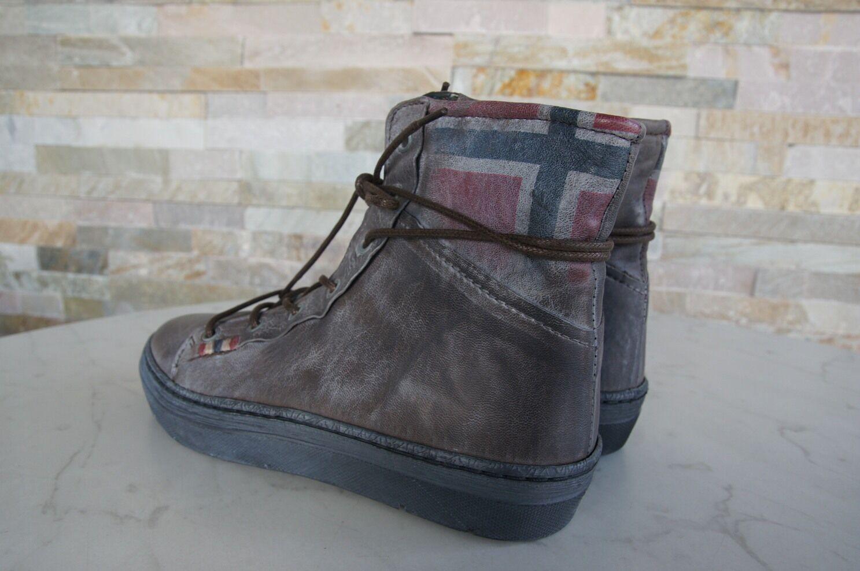 NAPAPIJRI Gr 38 Stiefeletten Schnürer Schnürer Schnürer Schuhe booties graubraun NEU 00bdd1