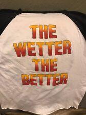 Bon Jovi Vintage Jersey t shirt 1986 Rare The Wetter The Better Medium Slippery