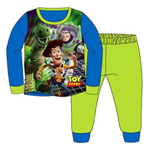 Official Toy Story Blue Green Buzz /& Woody Long Sleeve Pyjamas PJs 18m-5yr