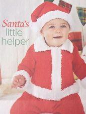 Santa's Little Helper, Christmas Jacket And Hat ( 0- 2 Yrs) Knitting Pattern