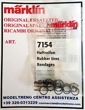 MARKLIN  7154  CERCHIATURE ADERENZA - HAFTREIFEN -  RUBBER TIRES  (10 ST.)