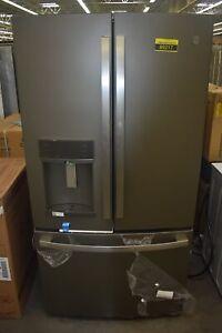 "GE PYE22KMKES 36"" Slate French Door Refrigerator NOB #89217 HRT"