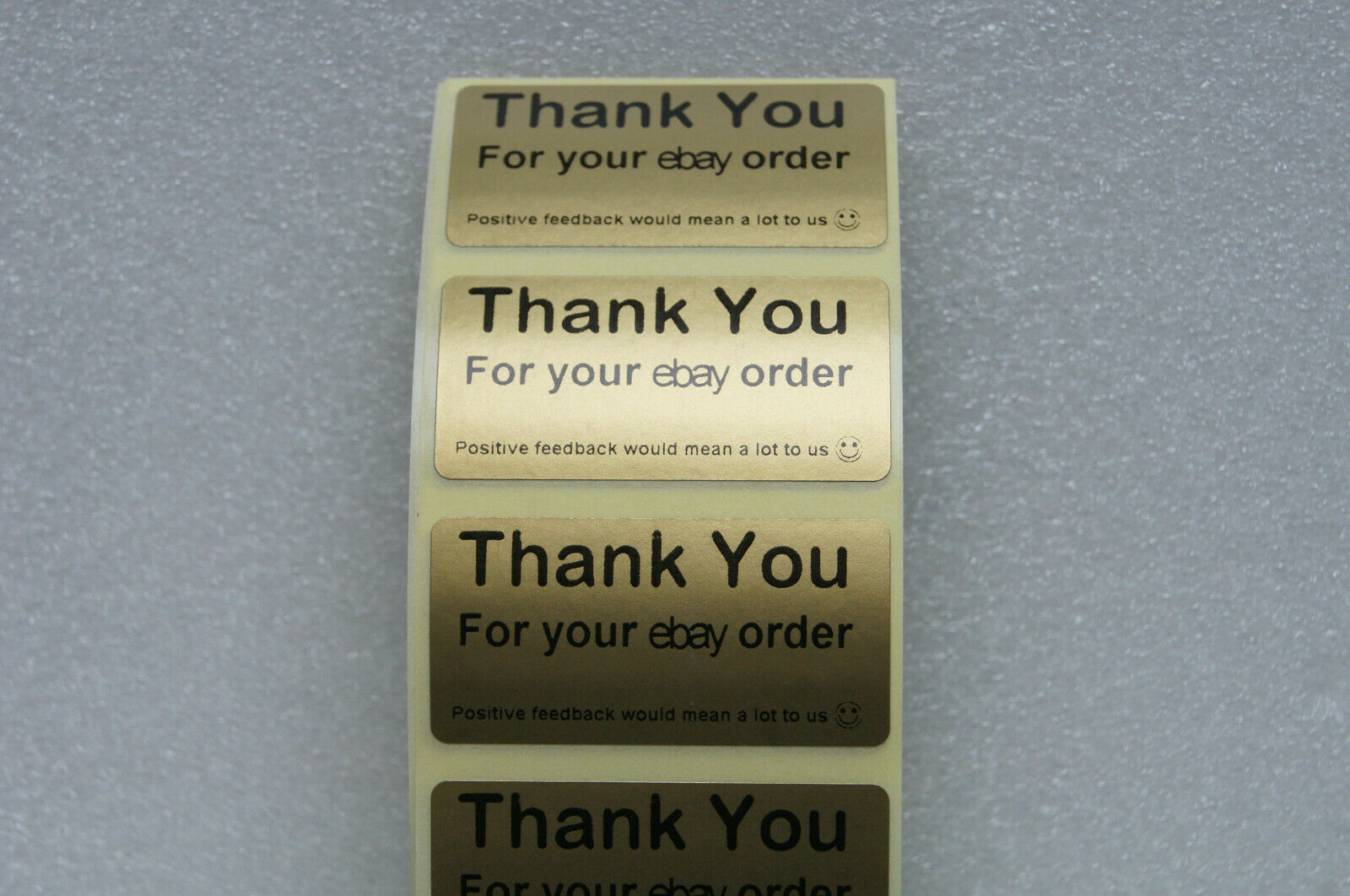 10-100 Thank You For Your Order / Purchase Labels Stickers GOLD Lables