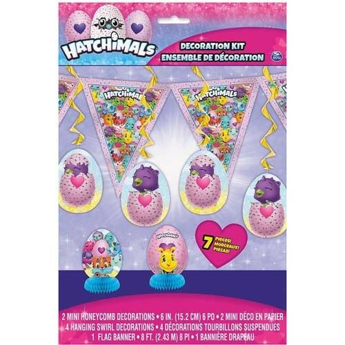 7pc HATCHIMALS ROOM DECORATING KIT ~ Birthday Party Supplies Centerpiece Swirl