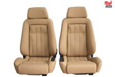 2 Recaro ergomed DS Leder cognac Mercedes R107 SL Sitze Sportsitze neu bezogen