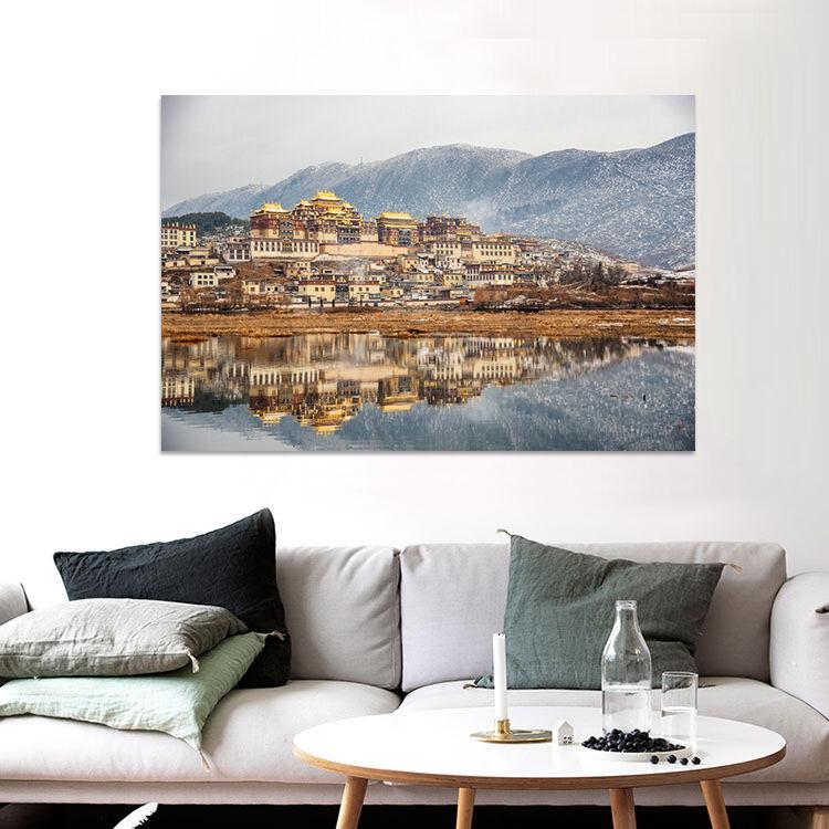 3D Potala Palast Alpin Fluss 95 Fototapeten Wandbild BildTapete AJSTORE DE Lemon