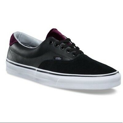 Vans era 59 black purple velvet sneaker shoes men size 12 new | eBay