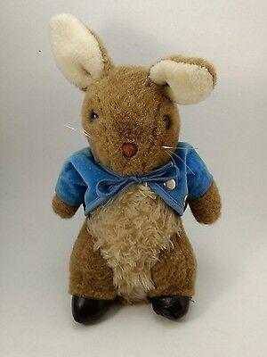 Beatrix Potter Peter Rabbit Plush VTG Music Box Here Comes Peter Cottontail Eden