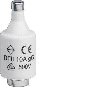 Hager fusible Dii 10a 500v le2710 5 piezas