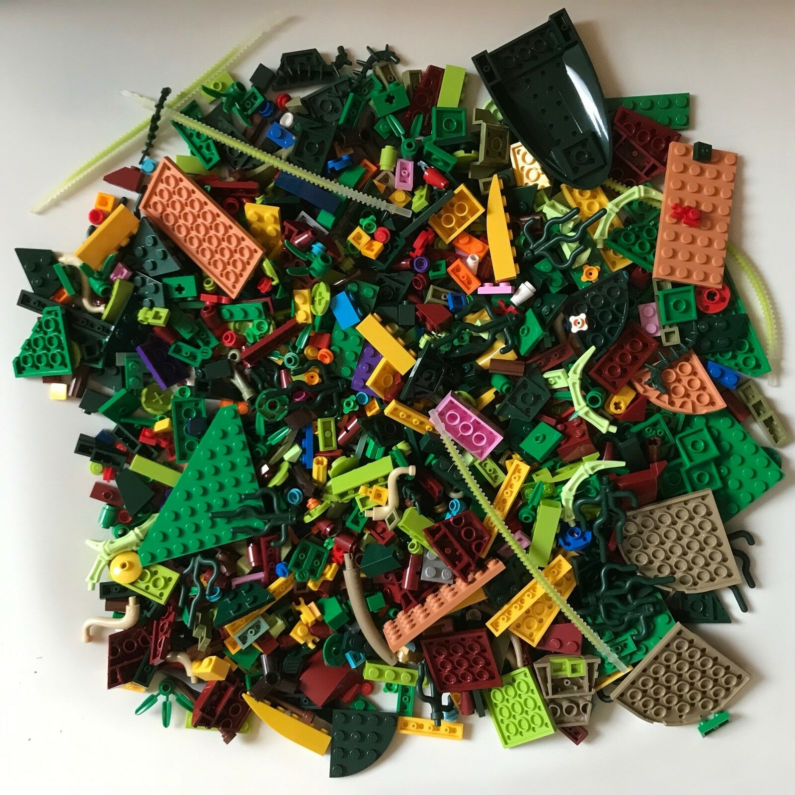 Over 1000 LEGO parts - FLOWERS PLATES PLANT multicolour - TO BUILD LEGO GARDEN