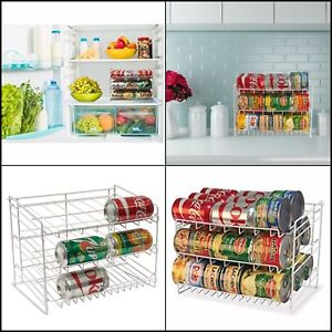 Details About Can Rack Pantry Organizer Kitchen Cabinet Shelf Canned Food Soup Storage Holder