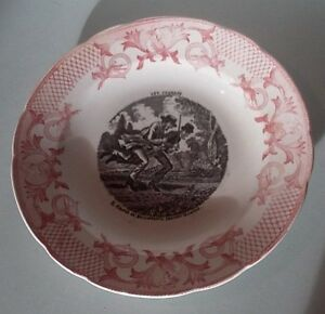 Alerte Assiette Parlante Les Courses Pexonne French Majolica Transferware Plate Le Plus Grand Confort