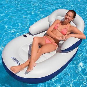 Intex-Matratze-Luftmatratze-Pool-Sessel-Lounge-Badeinsel-Wasserliege-Luftbett