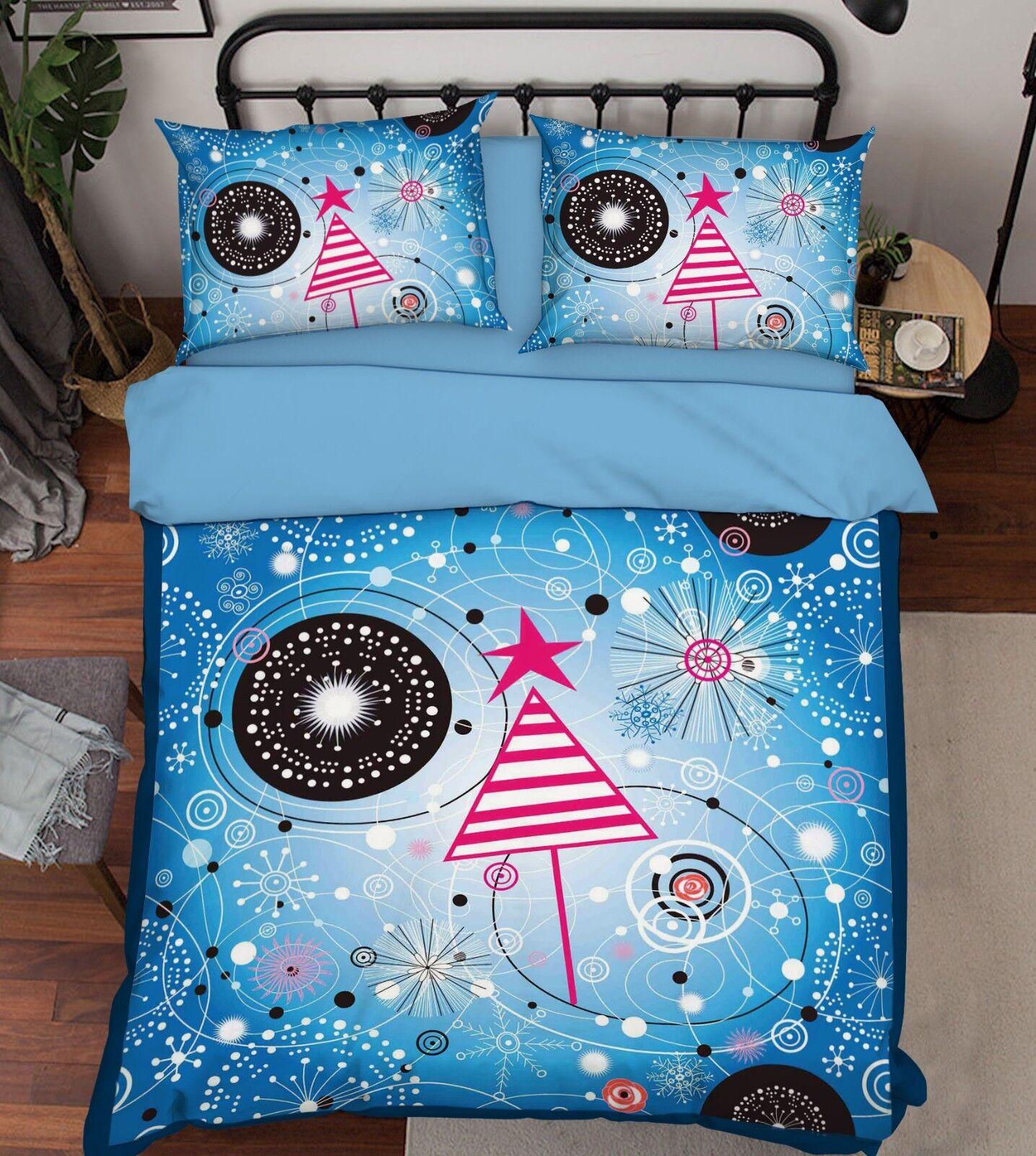 3D Cute Pattern Bed Pillowcases Quilt Duvet Cover Set Single Queen King Size AU