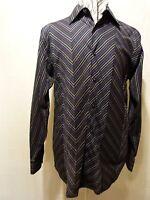 Tulliano 100% Cotton, Men' Blue Stripe Shirt,