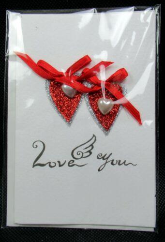 3D Karte Grußkarte Glückwunsch Liebe Zuneigung Valentin Handarbeit Einzelstück ♥
