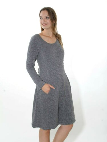 20/% Robe de SIMCLAN taille 42 jersey gris tricot tissu lacets