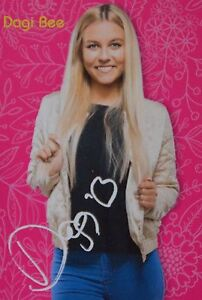 dagi bee autogrammkarte autogramm youtube fan sammlung. Black Bedroom Furniture Sets. Home Design Ideas