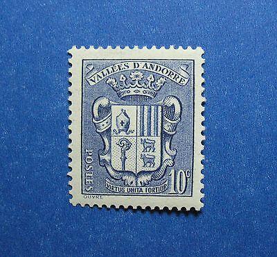 Europe Stamps 1937 Andorra French 10c Scott# 69 Michel # 53 Unused Cs26664 Wide Varieties