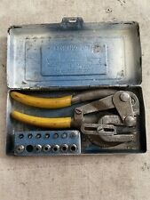 Vintage Whitney Jensen Punch No 5 Jr Sheet Metal Tool With Dies Amp Case Missing 1