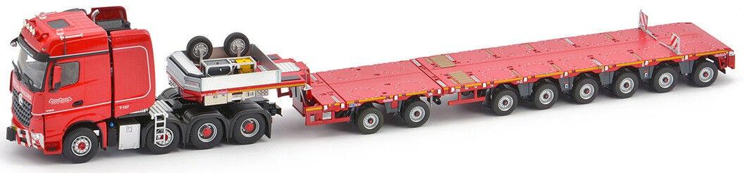 IMC5386866 - Camion 8x4 MERCEDES Arocs et semi surbaissée NOOTEBOOM extensible 8