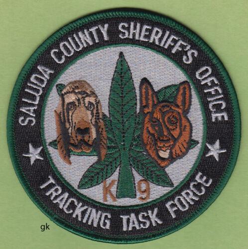 SALUDA COUNTY SC SHERIFF K9 MARIJUANA TRACKING TASK FORCE POLICE SHOULDER PATCH