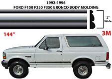 "144"" Chrome Body Side Molding For 1992-1996 Ford F150 F250 F350 Bronco New USA"