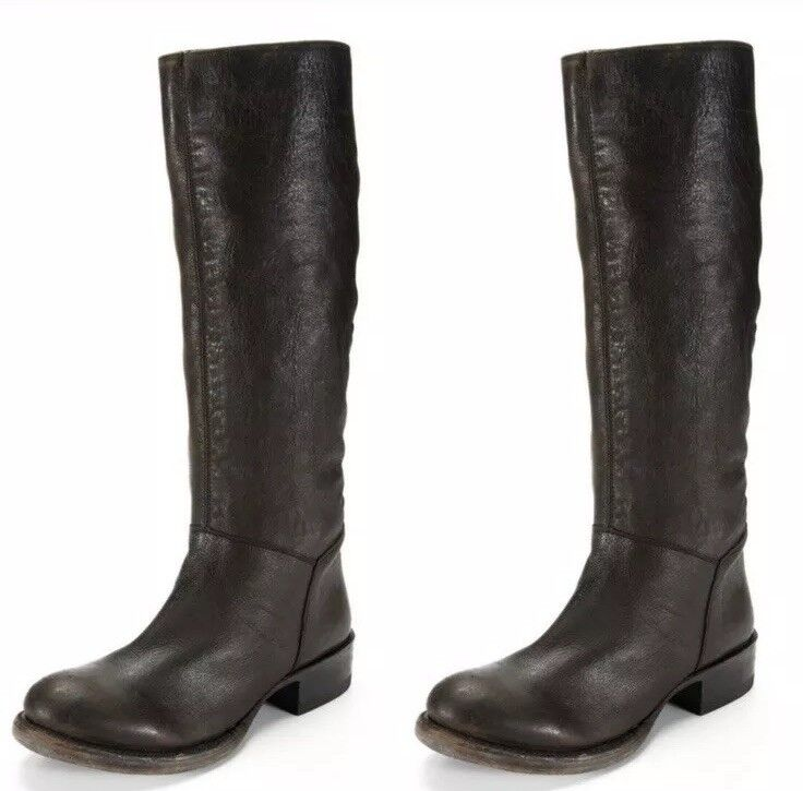 385 Ash Stop Leather Riding Boots 38