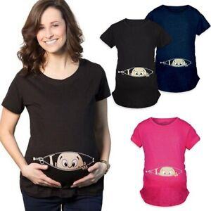 Ropa-De-Maternidad-Camisas-Para-Embarazadas-Franelas-Mama-Comoda-con-Bebes-NUEVA